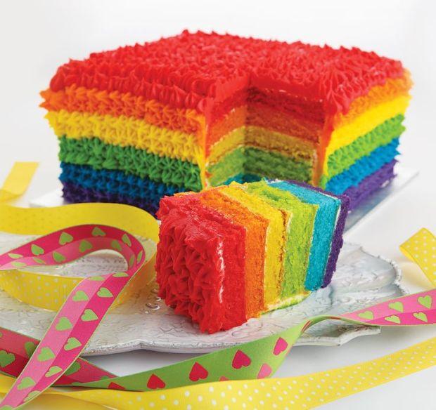 bolo colorido por dentro