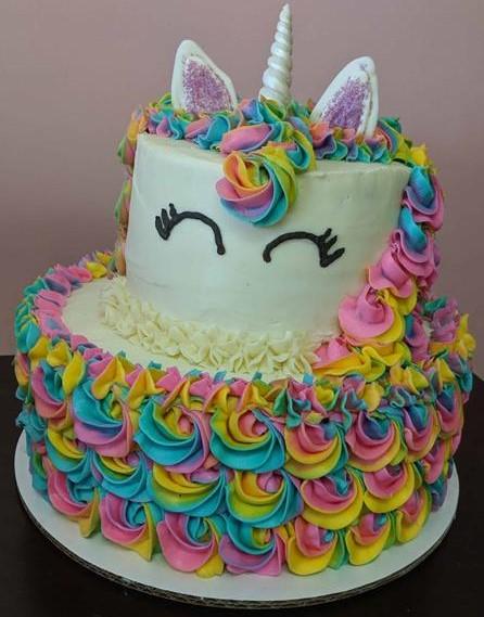 bolo colorido unicórnio