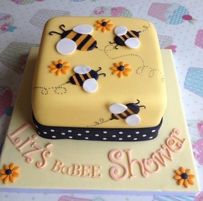 bolo da abelhinha quadrado