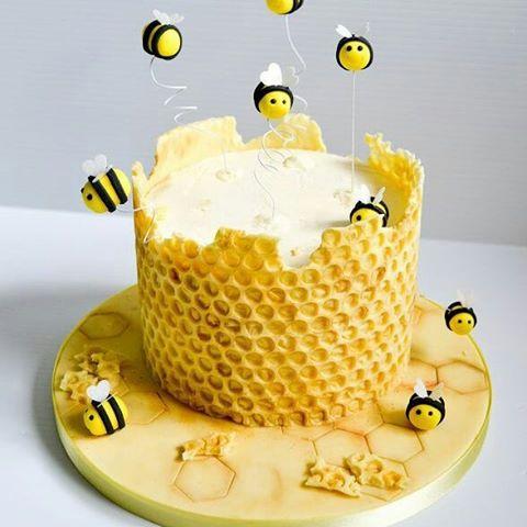 bolo da abelhinha redondo