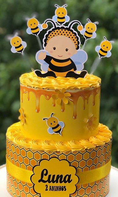 bolo da abelhinha dois andares