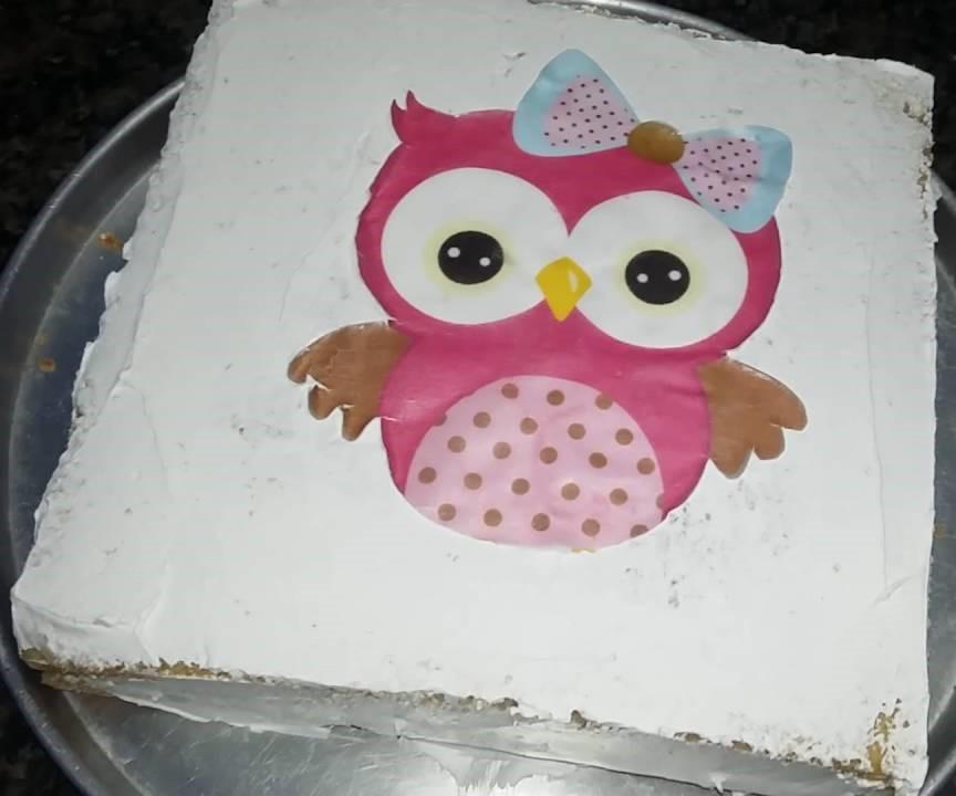 bolo de coruja simples