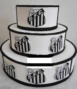 bolo do santos bola de futebol