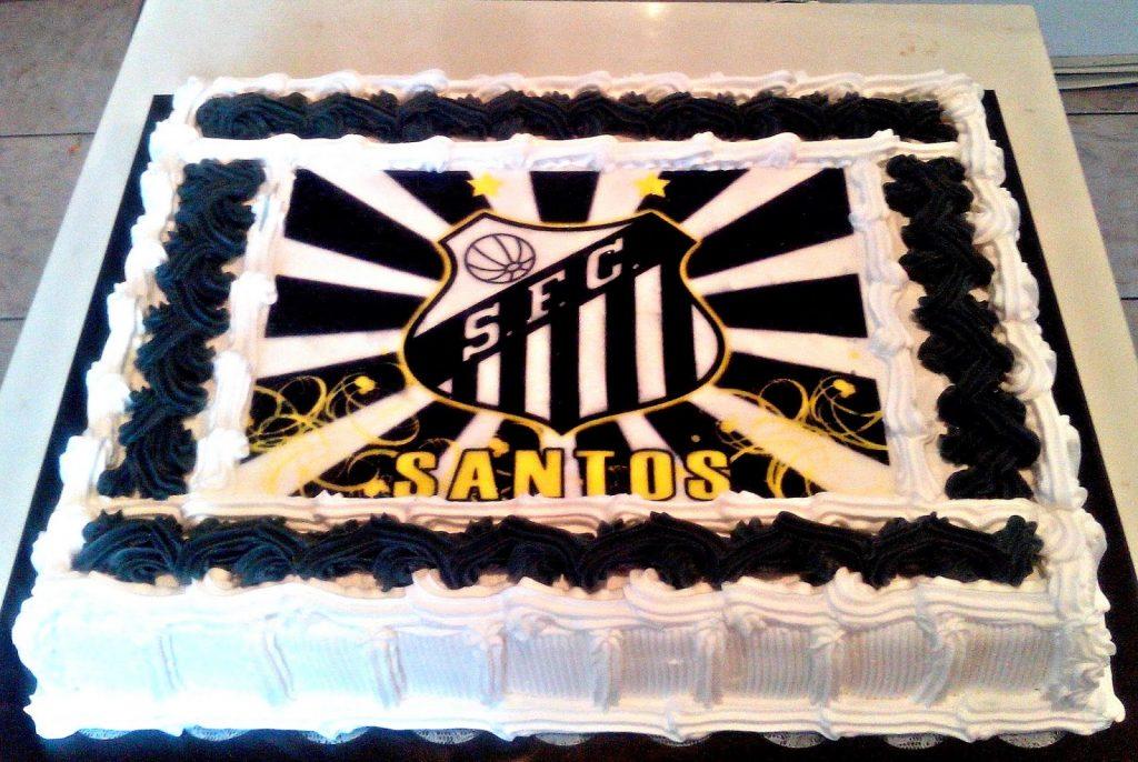 bolo do santos quadrado
