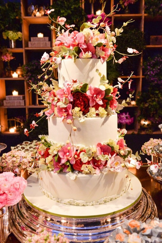 bolo fake casamento