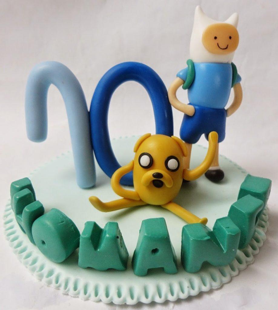 topo de bolo hora de aventura