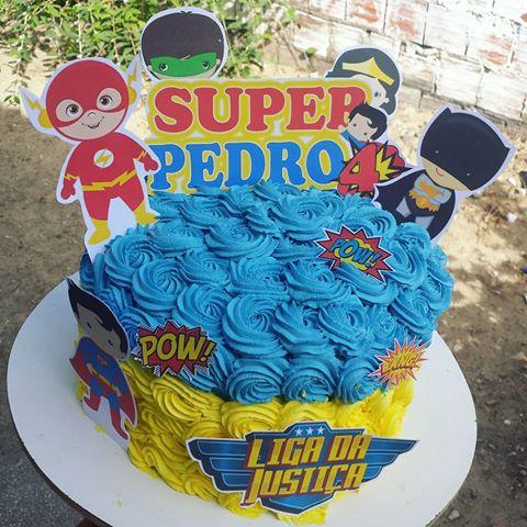 bolo liga da justiça redondo