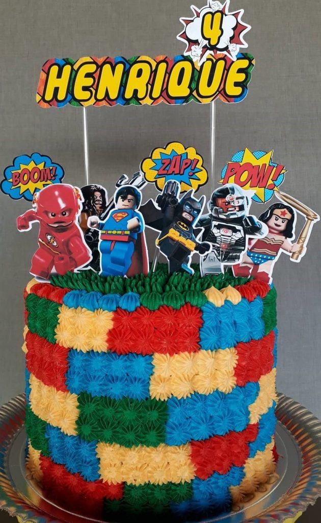 bolo liga da justiça lego
