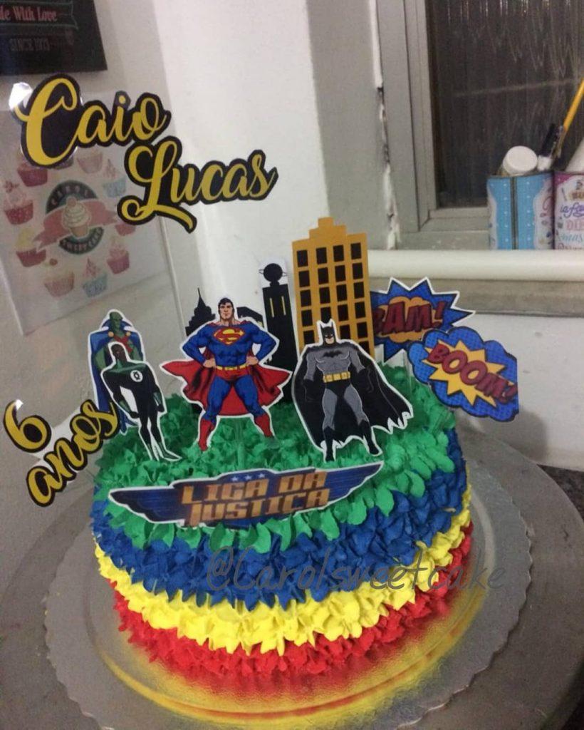 bolo liga da justiça 1 andar