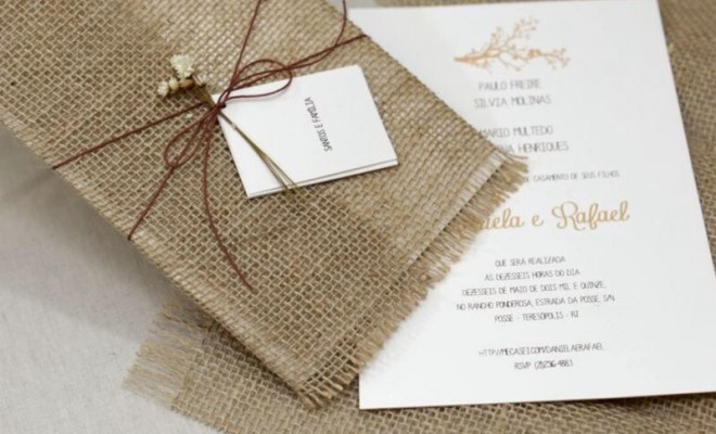 convite rústico casamento