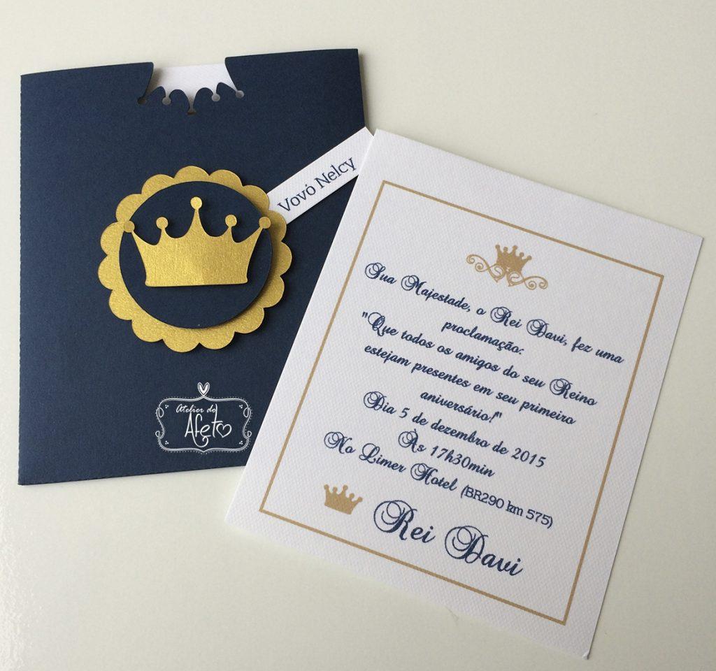 convite realeza masculino
