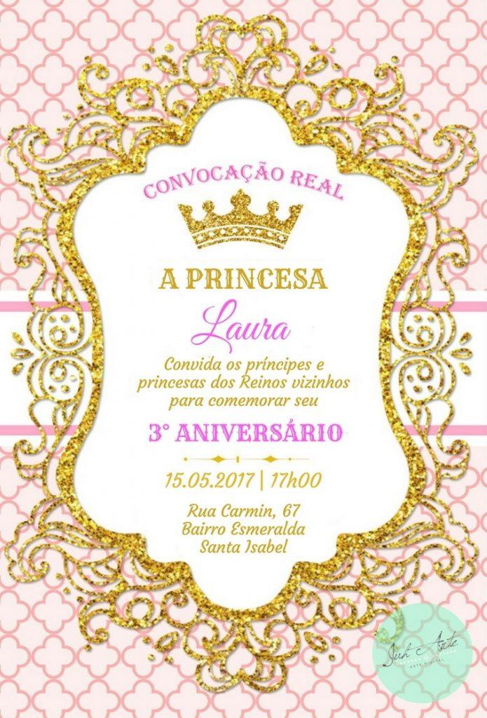 convite realeza feminino