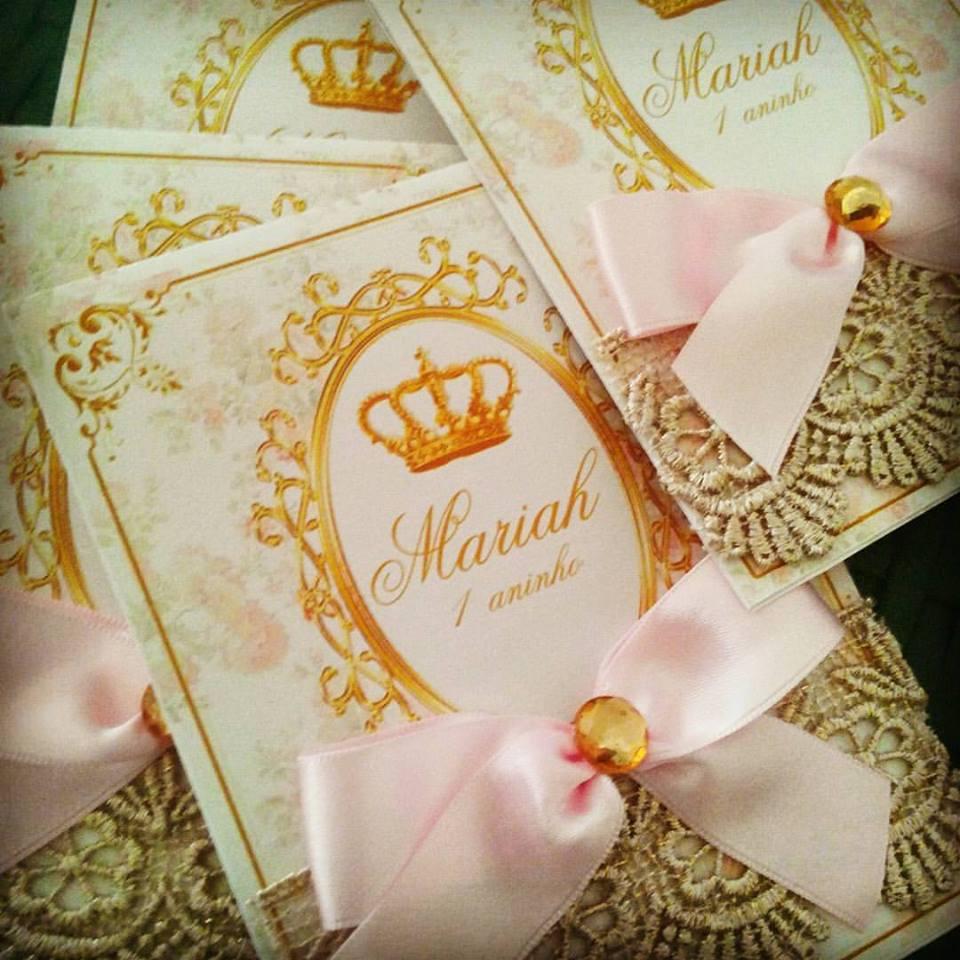 convite realeza luxo