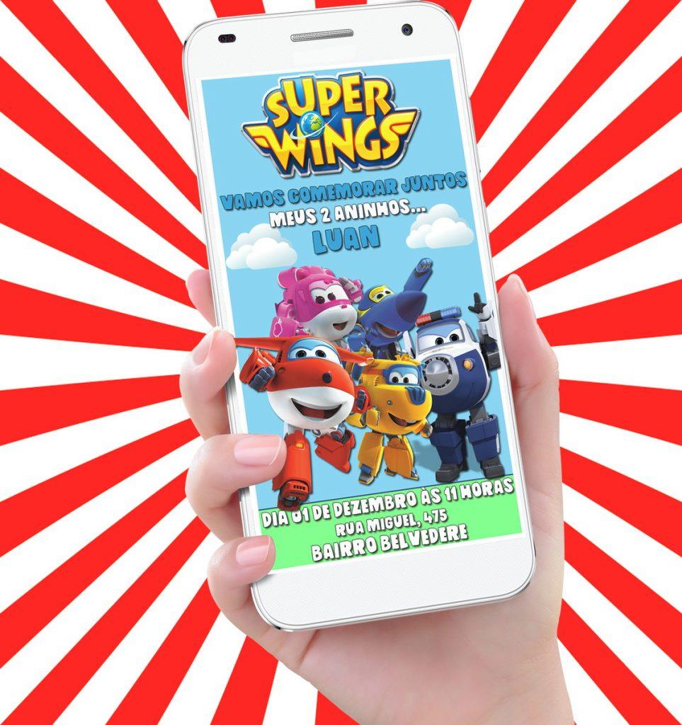 convite super wings virtual