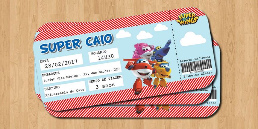 convite super wings passaporte