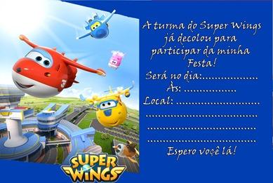 convite super wings para editar