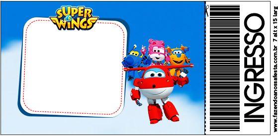 convite super wings para imprimir