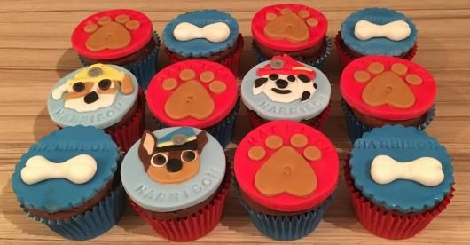 cupcake patrulha canina pasta americana
