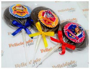 cupcake patrulha canina pirulito