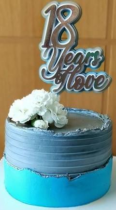bolo 18 anos de casamento