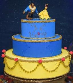 bolo a bela e a fera 3 andares