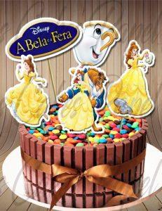 bolo a bela e a fera simples