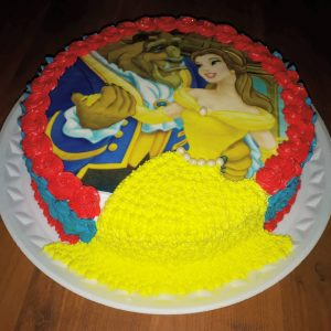 bolo a bela e a fera redondo