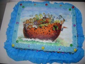 bolo arca de noé papel arroz