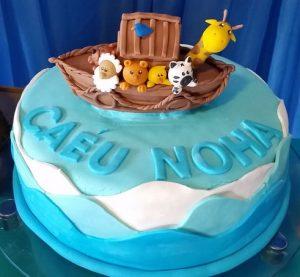 bolo arca de noé simples