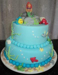bolo da ariel dois andares