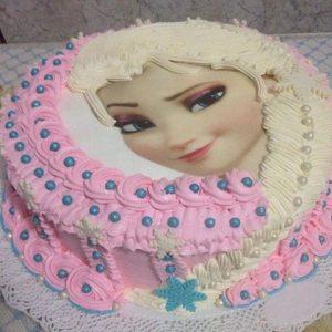 bolo elsa rosa