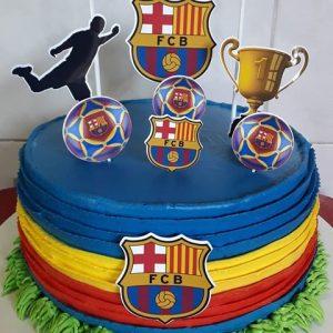 bolo do barcelona com topper