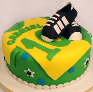 bolo futebol pasta americana