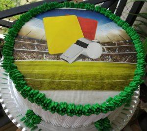 bolo futebol papel arroz