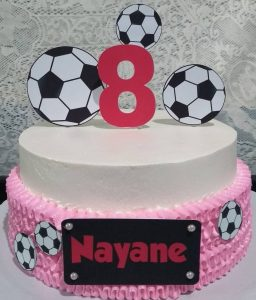 bolo futebol feminino