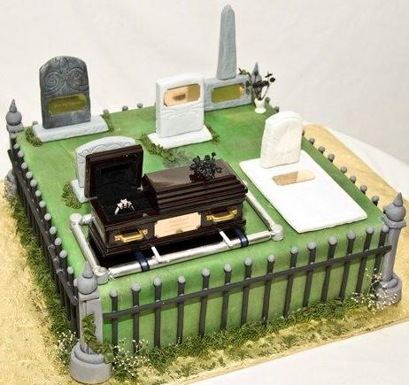 bolo halloween cemitério