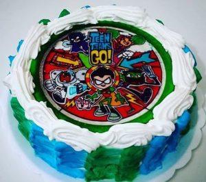 bolo jovens titãs papel arroz