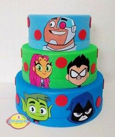 bolo jovens titãs fake