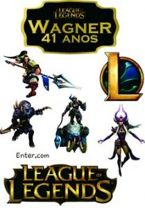 topo de bolo league of legends para imprimir