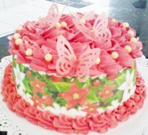 bolo primavera papel arroz