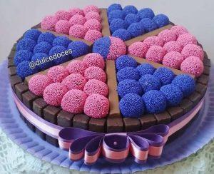 bolo rosa e azul