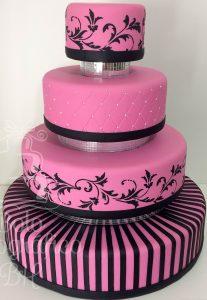 bolo rosa e preto
