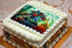 bolo transformers papel arroz