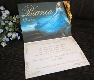 convite 15 anos cinderela