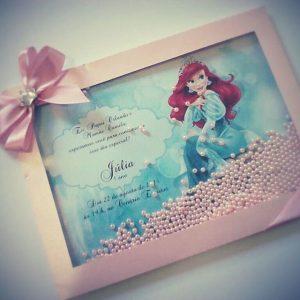 convite ariel luxo