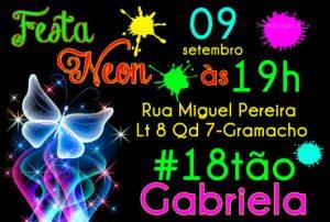 convite festa neon 18 anos