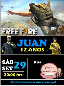 convite free fire simples