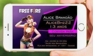 convite free fire digital