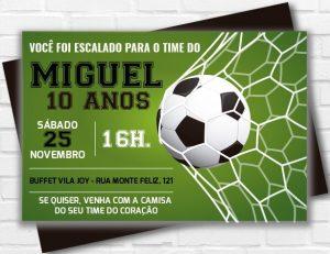 convite de futebol masculino