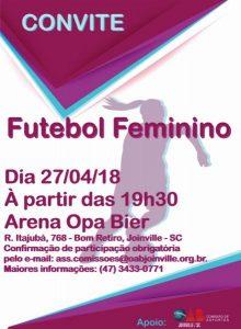 convite de futebol feminino